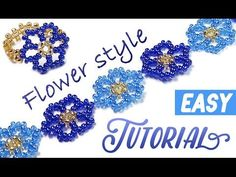 How-to make a beautiful flower bracelet using a seed beads / Красивый цв...