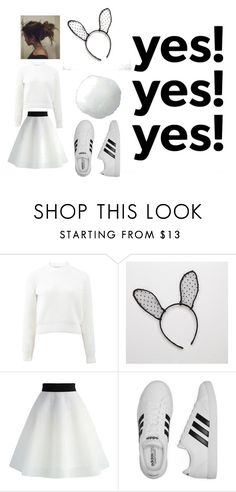 """""""Halloween"""" by briana-ruddell ❤ liked on Polyvore featuring T By Alexander Wang, Aerie, Chicwish and adidas"""