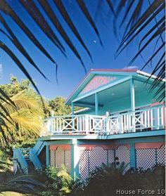 Turquoise beach house. Key West style.