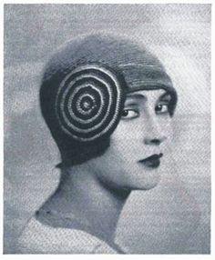Vintage Crochet 1920s Flapper Hat Pattern The Monte Carlo