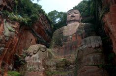 See the biggest Buddha in the world near Chengdu, China - in Leshan. You actually take a boat ride to see this from the water. Magnificent work - and Leshan is not a bad little tourist town either.