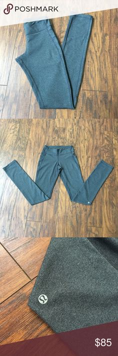 """NWOT Charcoal Grey Skinny groove NWOT lululemon leggings, never worn these just took the tags off! these are a longer fit, would fit best on someone 5'7"""" - 5'9"""" These are NOT reversible. price is pretty firm! lululemon athletica Pants Leggings"""