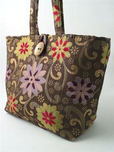 XL  tote bag  diaper bag laptop bag purse handbag by daphnenen, $95.00