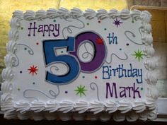 Happy 50th Birthday sheet cake