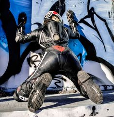 Dainese biker lad Biker Leather, Leather Men, Mx Boots, Motorcycle Wear, Rubber Catsuit, Motorbike Leathers, Biker Boys, Photography Poses, Cool Outfits