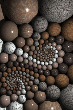 Natural art ... sacred geometry ... spheres ... ♥ www.24kzone.com