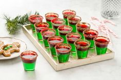 Grinch Jello Shots More (Christmas Appetizers Grinch) Christmas Jello Shots, Christmas Party Drinks, Christmas Appetizers, Holiday Cocktails, Christmas Treats, Holiday Treats, Holiday Parties, Christmas Cookies, Holiday Recipes