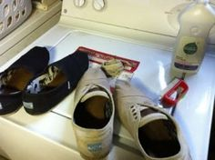How to clean TOMS shoes- tried these tips with my white TOMS and these ideas worked!