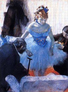 Edgar Degas - Danseuse dans sa loge (ca. 1878)
