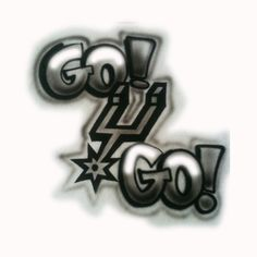 Go Spurs Go   airbrushed tshirt by StreaksandBlurs on Etsy, $12.00