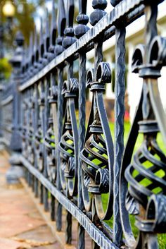 Iron fence that should accompany a brownstone.