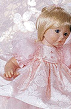 "This is the original advertisement from The Susan Wakeen doll company for the ""Baby Face"" doll in the signature series top of the line Wakeen dolls. She is another favorite of mine. Beautiful and still in her box in my closet."