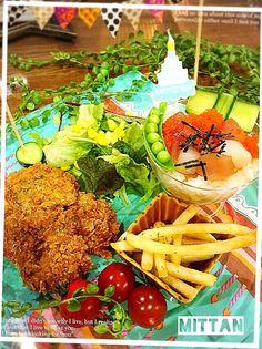 みったん's dish photo 次男くんバースデイディナー ワンプレート sakurakoさんの料理 バリバリ雷チキン  鳥むね肉のカレー味コーンフレーク揚げ | http://snapdish.co #SnapDish #レシピ #お誕生日 #友達&家族でパーティ料理 #晩ご飯 #肉の日(2月9日) #カレー記念日(6月2日)