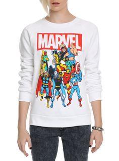 Marvel Group Girls Crewneck Sweatshirt
