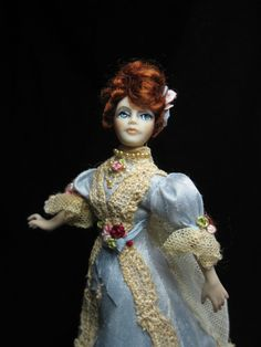 Miniature Doll House doll in the Gibson Girl style by KaysStudio, $225.00