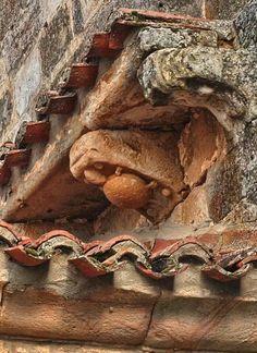 Canecillo de la tortuga. Iglesia de la Asunción de Villamoñico (Valderredible). Foto: Sur de Cantabria (Facebook).
