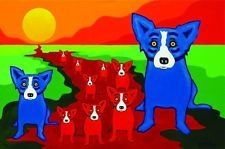 Blue dog and his buddies