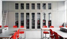 Bad Nenndorf, school interior. EQUITONE facade panels. www.equitone.com
