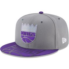 6767b8badbd82 Men s Sacramento Kings New Era Gray Team Color On-Court 9FIFTY Snapback  Adjustable Hat