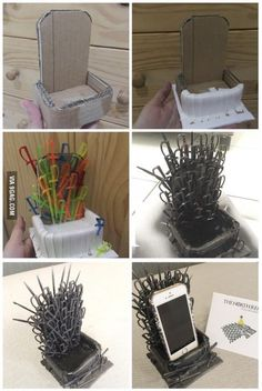 DIY: Game of Thrones                                                                                                                                                                                 Phone Throne