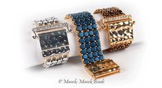 Honeycomb  Cuff : Manek-Manek Beads - Jewelry | Kits | Beads | Patterns