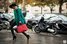 Sofia Guellaty | Paris @ http://le-21eme.com → WHAT: ba Charlotte Olympia Gerard Darel Prada Topshop