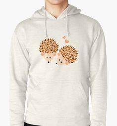 """""""hedgehogs"""" Pullover Hoodies by VanGalt   Redbubble  #hedgehogs, #love, #hedgehog, #animal, #animals, #hearts, #cute, #kids, #illustration, #cartoon, #PulloverHoodies , #hoodies"""