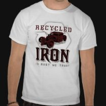 Recycled IRON T-shirts by DigitalHotrod