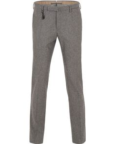Incotex Super 100´s Flannel Trousers Grey i gruppen Byxor hos Care of Carl (13044911r)