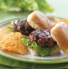 Start with these flavorful Grilled Ground Beef Sliders and add your favorite toppings. Great for a game day feast.