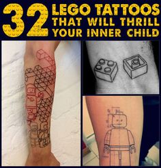 32 Lego Tattoos That Will Thrill Your Inner Child
