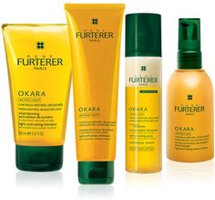 Rene Furterer Okara Active Light 3pc sample set, shampoo, conditioner, and leave-in fluid are .50oz each, NEW