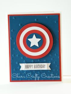 Captain America card by Char's Crafty Creations using CTMH products