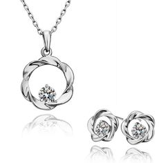 Trendy Austrian Crystal jewelry set jewelry SMTPS193