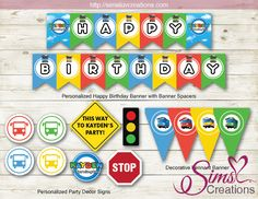 """Tayo The Little BusParty Supplies / Party Package / Party Decoration Kit / Cupcake Toppers / Welcome Sign / Party Signs / Water Labels / Favor Tags DIGITAL FILES INCLUDE: Personalized Cupcake Toppers 2"""" –12 party circles on a sheet (5 designs) Cupcake Wrappers 2.8 x 8.22"""" – 2 wrappers on a sheet (4 designs) Favor Bag"""
