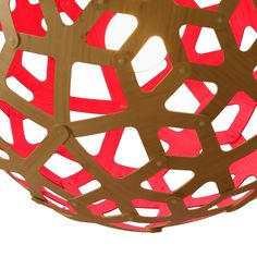 357€ David Trubridge - Coral Light Natural/Red - 40cm