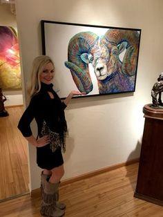 "NEW Original Painting ""Big Eyes"" now available at Aspen Grove Fine Arts in Aspen, Colorado Big Eyes Paintings, Bear Paintings, Original Paintings, Colorful Animals, Cool Art, Fun Art, Wildlife Art, Fine Art Prints, Art Gallery"