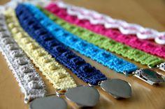 pacifier holder tuttinauha virkattu crochet
