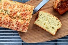 SAVORY QUICK-BREAD: GREEN GARLIC & TWO CHEESES