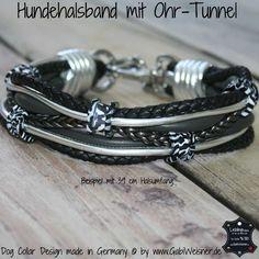 Hundehalsband Leder Ohr-Tunnel Zebra – Look