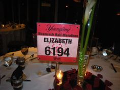 Race Bibs as Table Cards...fun way to incorporate your love for running into your big day. Cute if you were both into running!