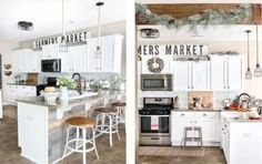 Ideas For Kitchen Farmhouse Cabinets Layout Kitchen Style, Kitchen Styling, Diy Kitchen Decor, Rustic Remodel, Rustic Farmhouse Kitchen, Kitchen Design, Kitchen Cabinet Layout, Farmhouse Kitchen Decor, Kitchen Layout