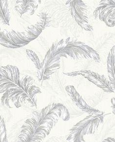 Wallpaper Inn Store -  Gilded Feather White / Silver by Julien MacDonald , R899,95 (http://shop.wallpaperinn.co.za/gilded-feather-white-silver-by-julien-macdonald/)