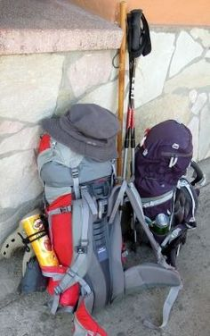 What to Pack for the Camino de Santiago - HubPages. Interesting article with a funny commentary on what to pack and why! Hiking Gear, Hiking Backpack, Camino Trail, Camino Routes, Camino Walk, Spain Pilgrimage, Destinations, Pacific Crest Trail, Spain And Portugal