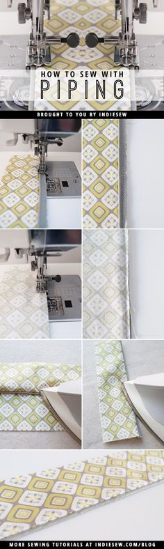Piping gives garments a clean, professional finish. But for newbies, it can be daunting. We're showing you how to make and sew with this fun trim! | Indiesew.com