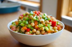 This is an awesome dish.  Great for any occasion.  How to Make Mediterranean Chickpea Salad W/ Bell Peppers