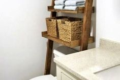 Bathrooms designs pictures closet for storage cabinets depth houzz without remodel box clearance sma images shelving Glamorous Bathroom, Rustic Ladder, Diy Bathroom Remodel, Bathroom Ideas, Small Bathroom Storage, Closet Designs, Diy On A Budget, Storage Cabinets, Diy Organization