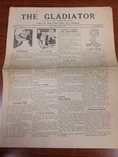 1951 Imlay City Michigan High School Newspaper The Gladiator Imlay City, School Newspaper, New Lincoln, Christmas Concert, Folklore, Michigan, Legends, High School, History