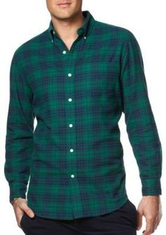 Chaps  Big  Tall Plaid Flannel Shirt