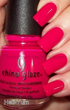 China Glaze Heli-Yum, dark cherry pink - China Glaze Heli-Yum, dark cherry pink The Effective Pictures We Offer You About Beauty images A q - Trendy Nails, Cute Nails, Dark Pink Nails, Black Nail, Pink Black, Pink Wedding Nails, China Glaze Nail Polish, Pink Nail Polish, Nail Pink